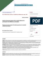 Impacto Farmacoeconómico de La Revisión Diaria de La Prescripción de Antibióticos Controlados