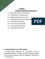 UNIDAD I  INSTALACIÓN SANITARIA  EN EDIFICIOS.pps