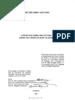 Criminologia a Penitenciaria Do Estado Analise Das Relações de Poder Na Prisão Jose Eduardo Azevedo