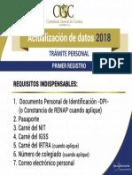 Requisitos Actualizacion de Datos2018 CONTRALORIA GENERAL DE CUENTAS GUATEMALA