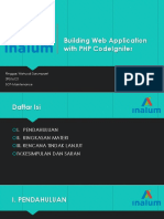 Building Web Application With PHP CodeIgniter