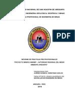Ing. Minas - CJH Informe de Prácticas ARMA