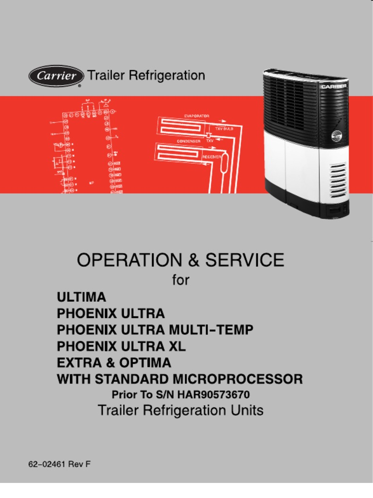 Carrier Ultima, Phoenix Ultra XL, Extra, And Optima Service