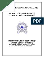 ISM MTech InformationBulletin