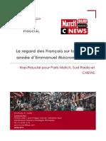 Le regard des Français sur la première année d'Emmanuel Macron à l'Elysée