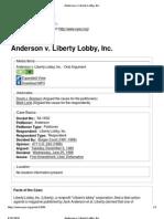 Anderson v. Liberty Lobby, Inc