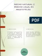 Derecho Natural y Derecho Legal en Aristoteles