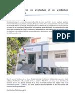 L'Enseignement Privé en Architecture Et en Architecture d'Intérieur Au Maroc