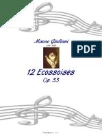 Mauro Giuliani 12 Ecossaises