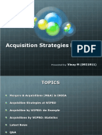 Acquisition Strategies by Wipro (Vinay M - 0921911)