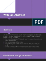 Write an Abstract