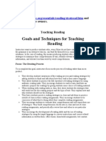 Goals and Techniques of Reading Skills Thesis Preparation