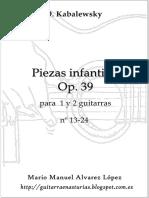 Kabalewsky D. 24 Piezas Infantles Op. 39 13-24