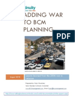 BSI Highlighted article about Adding War to Bcm Planning - Lessons Learned From the War in Lebanon 2006