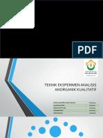 Teknik Eksperimen Analisis Anorganik Kualitatif