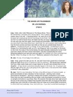 Transcript1 Life j Dispenza 07-06-2012