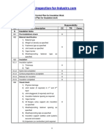 Contractor Quality Control Plan for Insulation Work