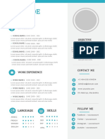 One Page CV Template # 01