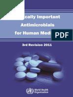 Critical Important Antimicrobials