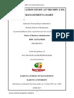 MILMA Pathanamthitta Dairy Organization STUDY