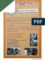 Sevabharathi Gandhi Hospital Shelter Home Secunderabad Pamphlet
