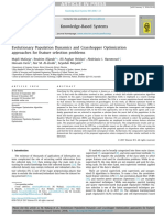 Evolutionary Population Dynamics and Grasshopper Optimization Approaches for Feature Selection Problems