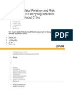 Soil Heavy Metal Pollution and Risk Assessment in Shenyang Industrial District