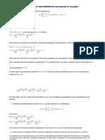 Estudio de La Derivabilidad de Una Función en Un Punto