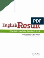 English Result Pre-Intermediate Teacher's Book