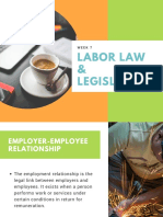 Labor Law & Legislation Week 7