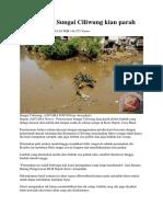 Pencemaran Sungai Ciliwung Kian Parah