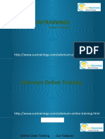 Selenium course description
