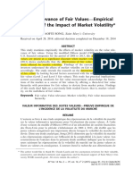 Value Relevance of Fair Values—Empirical Evidence of the Impact of Market Volatility