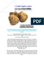 Alba Truffle Supplier London
