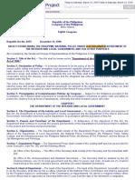 r.a. 6975 - Pnp Under Dilg - Dilg Act of 1990
