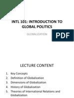 INTL 101- Globalization