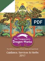 Dragon Herbs Guidance, Services & Herbs 2017