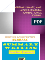 Writing Summary, Make a Paper, Reading