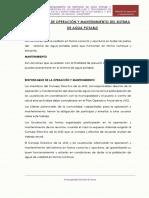 1.- Manual de Operacion y Mantenimiento Agua Potable