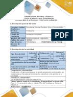 Guía de Actividades y Rúbrica de Evaluación-Paso 1 Reflexionar Sobre El Rol Del Psicólogo Educativo