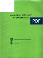 Manual on Settlement of Land Disputes