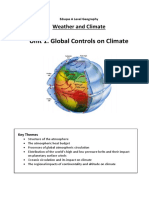 Unit 1 Global Controls on Weather and Climate
