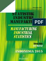Statistik Industri Manufaktur Indonesia 2015 - Bahan Baku