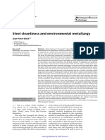 Steel Cleanliness and Enviromental Metallurgy