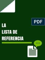 Lista Referencia y Bibliografia