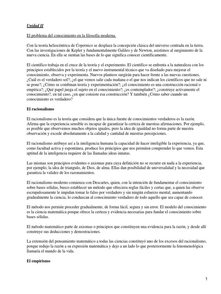 4a53f0b08e23 Apuntes Sobre El Problema Del Conocimiento en La Filosofia Moderna