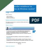 Cómo Se Pueden Restablecer Los Componentes de Windows Update