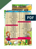 Jadual Minggu Persekolahan 2018