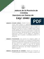 Ley 10461 - Servicios Esenciales