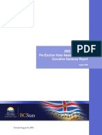 2009 Pre Election Voter Awareness Survey 20090826